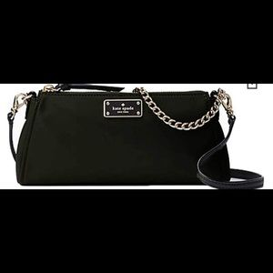 Kate Spade black shoulder bag with chain and strap